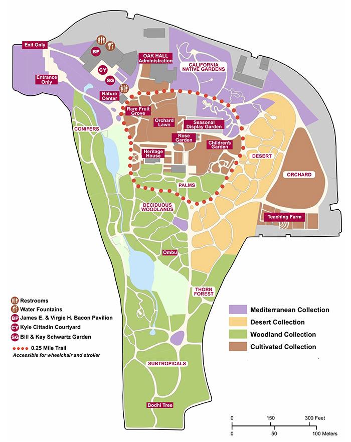 Fullerton Arboretum grounds map