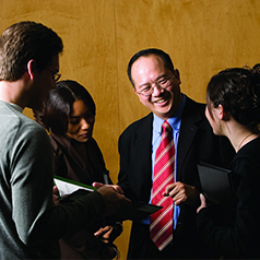 Chan Peng and students