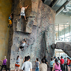 Students Rock Climbing at the CSUF Recreation Center
