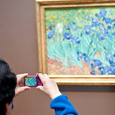 Van Gogh painting on display at the Getty