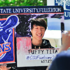 male student at Cal State Fullerton